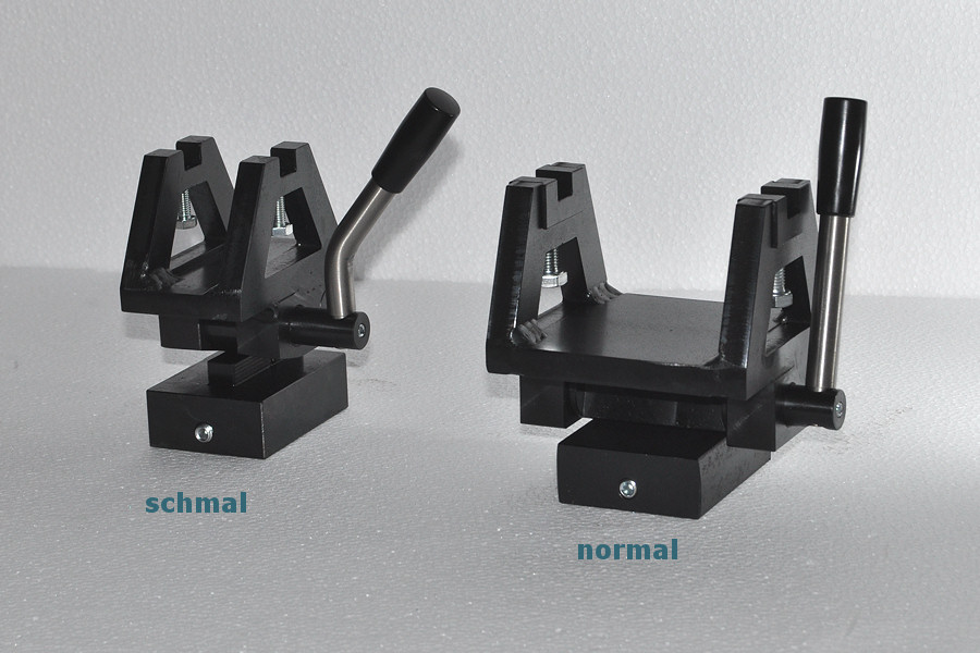 Achsenlagerbock mit Schnellhebelmechanismus